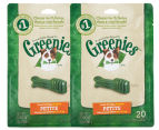 2 x Greenies Dental Chew Dog Treats 20pk 1