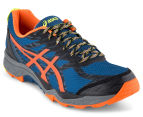 ASICS Men's GEL-Fuji Trabuco 5 Shoe - Poseidon/Flame Orange/Safety Yellow 2