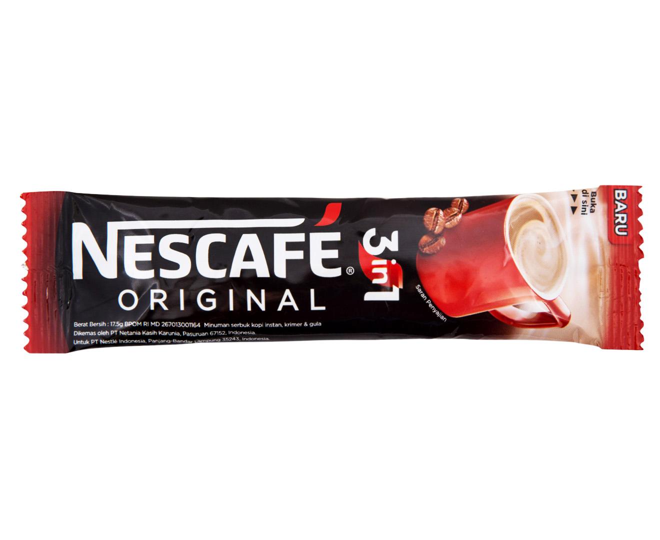 nescafé 3 in 1 original coffee sachets 30pk 525g catch com au