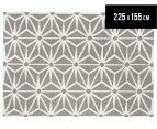 Hannah Pure Wool Flatweave Star 225x155cm Medium Rug - Grey 1