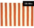 Hannah Pure Wool Flatweave 225x155cm Medium Rug - Orange 1