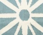 Hannah Pure Wool Flatweave Star 225x155cm Medium Rug - Blue 4