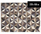 Hannah Pure Wool Flatweave 3D Design 225x155cm Medium Rug - Grey 1