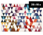 Hannah Pure Wool Flatweave Flags 280x190cm Large Rug - Multi 1
