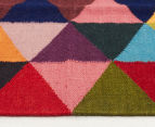 Hannah Pure Wool Flatweave Triangles 400x80cm Large Runner - Multi 3