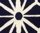 Hannah Pure Wool Flatweave Star 300x80cm Small Runner - Navy 4