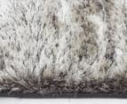 Super Soft Metallic 165x115cm Shag Rug - Granite 4