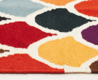 Hannah Pure Wool Flatweave Scales 300x80cm Small Runner - Multi 3
