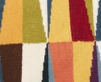 Hannah Pure Wool Flatweave Spikes 320x230cm X-Large Rug - Multi 4