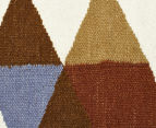 Hannah Pure Wool Flatweave Flags 280x190cm Large Rug - Multi 4