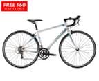 Reid Cycles 2016 Women's Osprey Road Bike + FREE Starter Pack - Black/White/Light Blue 1