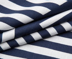 Bambury Elliot Queen Bed Reversible Quilt Cover Set - Navy/White 4