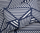 Bambury Elliot King Bed Reversible Quilt Cover Set - Navy/White 3