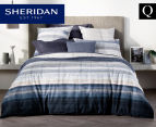 Sheridan Hillside Queen Bed Quilt Cover Set - Midnight 1
