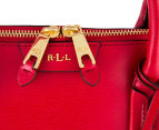 Lauren by Ralph Lauren Tate Dome Satchel - Red/Gold 4