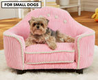 Enchanted Home Laine Headboard Pet Bed with Pillow For Small Dogs - Pink 1
