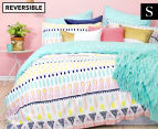 Bambury Maya Single Reversible Quilt Cover Set - Turquoise/Multi 1