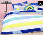 Bambury Direction King Bed Reversible Quilt Cover Set - Pastel 1