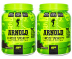 2 x MusclePharm Arnold Iron Whey 680g - Chocolate 1