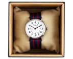 Timex 38mm T2N747 Weekender Nylon Slip-Thru Watch - Blue/Red 5