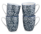Aspen 10cm Floral Mug 4-Pack - Ink Blue 1
