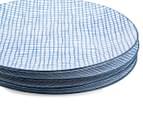 Aspen 23cm Grid Plate 4-Pack - Aegean Blue 4