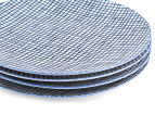 Aspen 23cm Grid Plate 4-Pack - Ink Blue 4