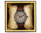 Timex 42mm T2N957 Easy Reader Leather Watch - Taupe 5
