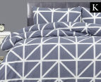 Belmondo Hector King Bed Quilt Cover Set - Steel 1