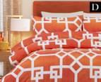 Belmondo Byzantium Double Bed Quilt Cover Set - Orange 1