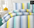 Belmondo Ascot Double Bed Quilt Cover Set - Blue/Yellow 1
