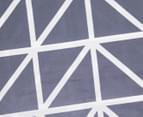 Belmondo Hector Queen Bed Quilt Cover Set - Steel 5