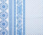 Belmondo Rochelle Queen Bed Quilt Cover Set - Blue 5