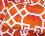 Belmondo Byzantium Double Bed Quilt Cover Set - Orange 4