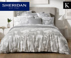 Sheridan Impressions King Bed Quilt Cover Set - Fog 1