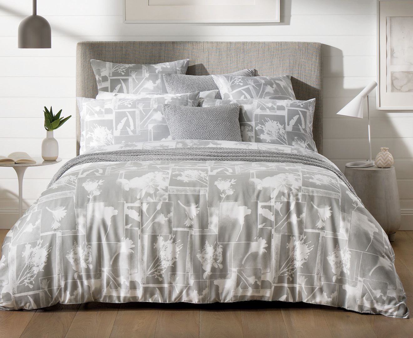 Sheridan Impressions Queen Bed Quilt Cover Set - Fog