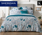 Sheridan Anscombe King Bed Quilt Cover Set - Aquamarine 1