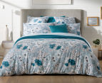 Sheridan Anscombe King Bed Quilt Cover Set - Aquamarine 2