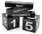Marble Look 14x9x7cm Perpetual Desk Calendar - Black 4