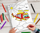 Personalised Kids' 25x38cm Colour-In Canvas 6