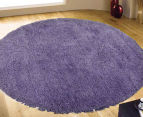 2 x Monroe Shag 90cm Super Soft Microfibre Rug - Grape 2
