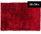 Super Soft Metallic 320x230cm Shag Rug - Red 1