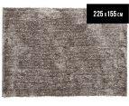 Super Soft Metallic 225x155cm Shag Rug - Stone 1