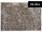 Super Soft Metallic 225X155cm Shag Rug - Stone 1
