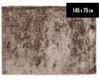 Metallic Shag 145x75cm Super Soft Rug - Latte 1