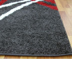 Chicago Shag 330x240cm Gentle Curves Rug - Charcoal 3