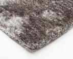 Metallic Shag 145x75cm Super Soft Rug - Stone 3