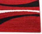 Chicago Shag 330x240cm Gentle Swirl Rug - Red/Black 3