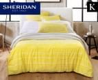 Sheridan Peake King Bed Quilt Cover Set - Wattle 1