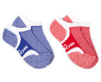Bonds Kids' Ultimate Comfort Low Cut Socks 2-Pack - Blue/Red 1